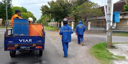 Penyemprotan Disinfektan Hari Ke-3 Trirenggo Di Dusun Bantul Timur