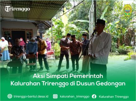 Aksi Simpati Pemerintah Kalurahan Trirenggo di Dusun Gedongan