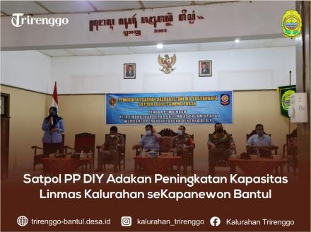 Satpol PP DIY Adakan Peningkatan Kapasitas Linmas Kalurahan seKapanewon Bantul
