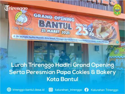 Lurah Trirenggo Hadiri Grand Opening Serta Peresmian Papa Cokies & Bakery Kota Bantul