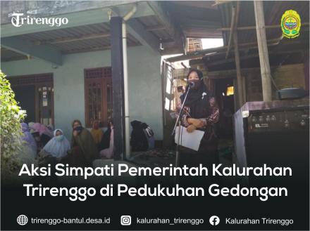 Aksi Simpati Pemerintah Kalurahan Trirenggo di Pedukuhan Gedongan