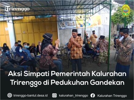 Aksi Simpati Pemerintah Kalurahan Trirenggo di Pedukuhan Gandekan