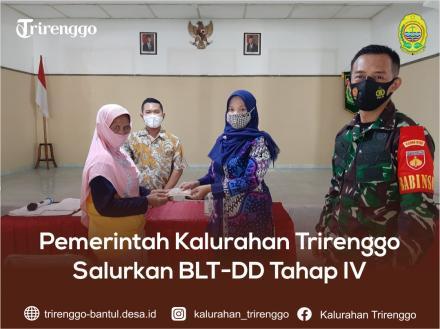 Pemerintah Kalurahan Trirenggo Salurkan BLT-DD Tahap IV