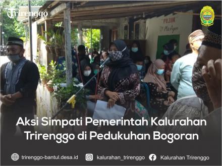 Aksi Simpati Pemerintah Kalurahan Trirenggo di Pedukuhan Bogoran