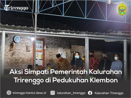 Aksi Simpati Pemerintah Kalurahan Trirenggo di Pedukuhan Klembon