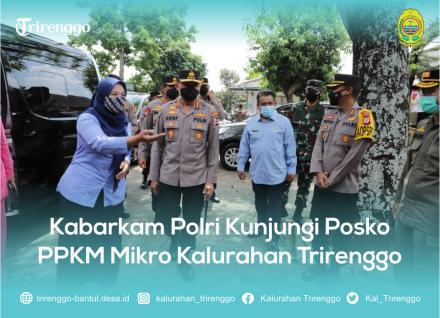 Kabarkam Polri Kunjungi Posko PPKM Mikro Kalurahan Trirenggo